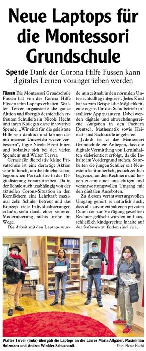2020-06-19_Allgäuer-Zeitung-Füssen_Artikelausschnitt